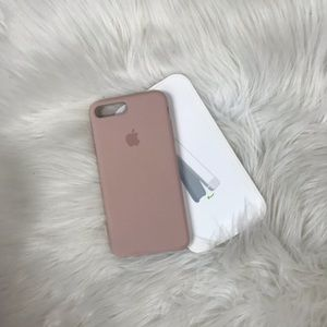 iPhone 7 Plus soft silicone case in dusty rose